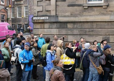 THE CELTIC TOUR Cuthbert with crowd